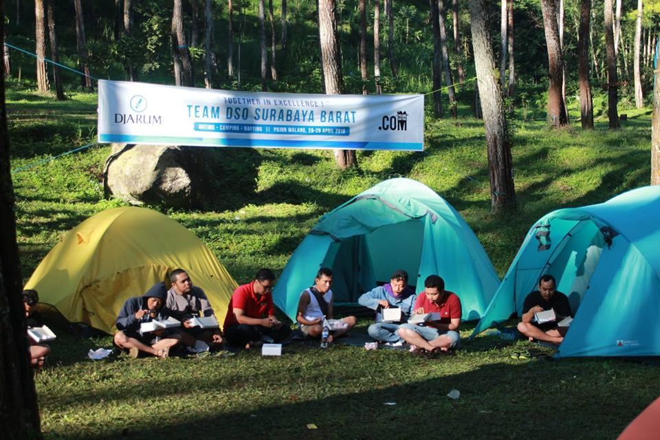 camping rafting pujon