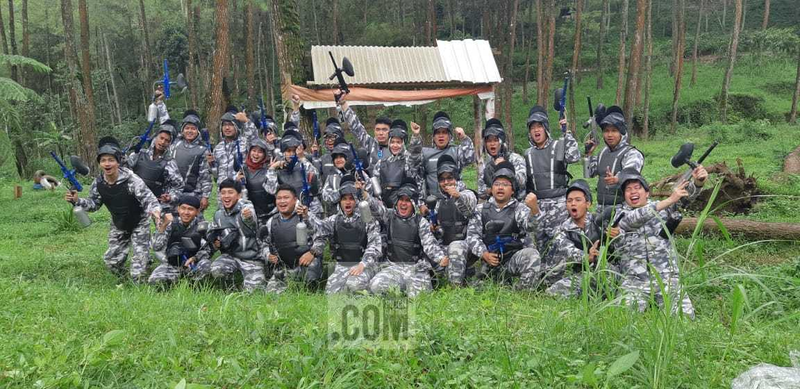 Paintball PT Austasia Food bersama Pujon Rafting